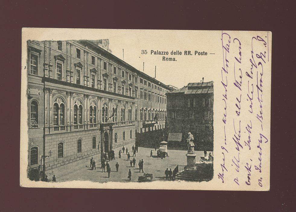 Italy rome roma palazzo delle rr poste used 1904 u b ppc for Palazzo delle esposizioni rome italy
